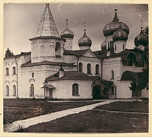 Alexander-Svirsky Monastery - The Transfiguration Cathedral, as photographed by Prokudin-Gorski in 1909