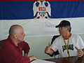 Prvoslav Vujčić interviewing Dragoslav Šekularac.jpg