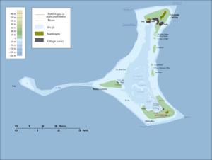 Pukapuka - Map of Pukapuka Atoll