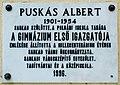 Puskás Albert plaque Sarkad Vasút u 2.jpg