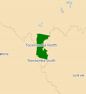 Electoral district of Toowoomba North - Electoral map of Toowoomba North 2008