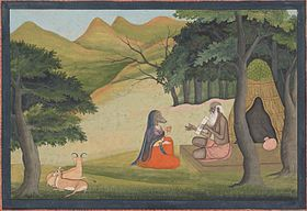 Queen Choladevi Before the Hermit-Sage Angiras