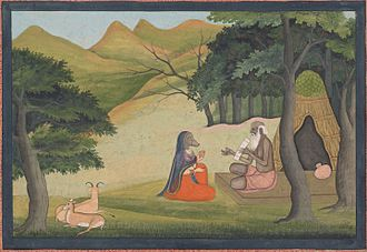 Angiras (sage) - An 18th-century painting of the story of Queen Choladevi learning from the hermit-sage Angiras