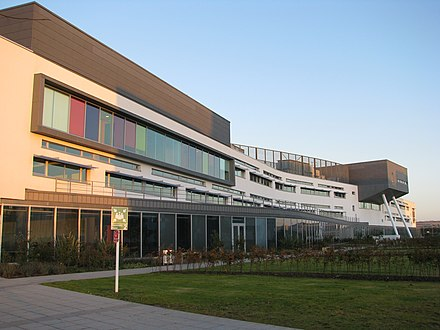 Queen Margaret University, Campus in Musselburgh, Hauptgebäude.