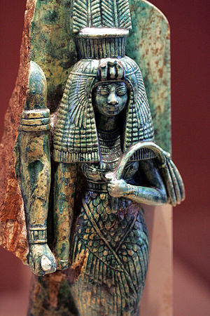 Tiye - Queen Tiye, whose husband, Amenhotep III, may have been depicted to her right in this broken statue