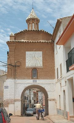 San Roque towngate in Quinto