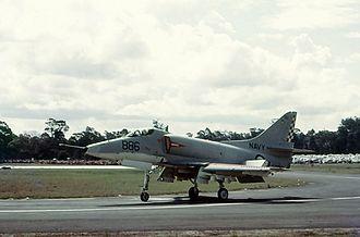 McDonnell Douglas A-4G Skyhawk - Skyhawk 886 at HMAS Albatross in 1969