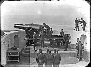 Antrim Artillery - Typical 9-inch RML gun emplacement of the 1880s.