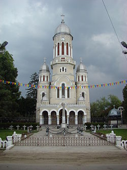 The new Orthodox church in Tinca village