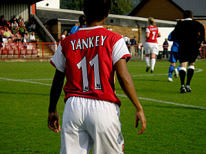 Rachel Yankey - Playing for Arsenal in October 2006