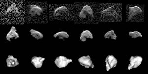 Radar astronomy - Radar images and computer model of asteroid 1999 JM8