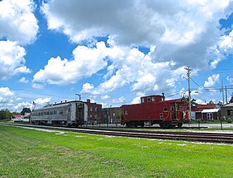 Monterey, Tennessee - Railroad cars at the Monterey Depot