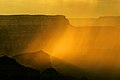 Rain is flooded by sunlight in the Grand Canyon.JPG