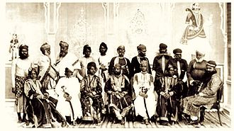Rajasthani people - Noblemen from Jaipur 1875