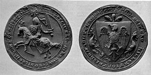 Ralph de Monthermer, 1st Baron Monthermer - Lord Monthermer's seal, as appended to the Barons' Letter of 1301, which was written to the Pope by the nobles of England, rejecting his claim to the feudal overlordship of Scotland