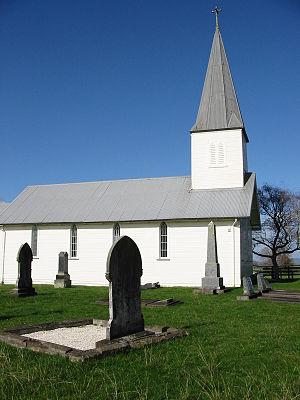 Rangiaowhia - St Paul's Church (Anglican) at Rangiaowhia
