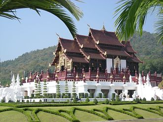 The Amazing Race Asia 3 - Teams ended the first leg of the race in Thailand at Ho Kham Royal Pavilion at the center of Royal Agricultural Research Center in Chiang Mai Province.