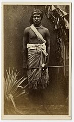 Ratu Timoci Tavanavanua, second son of Cakobau, photograph by Francis H. Dufty, Oc,A3.95, British Museum.jpg