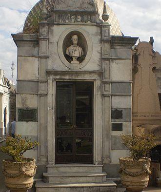 Florencio Varela (writer) - Varela's grave in La Recoleta Cemetery