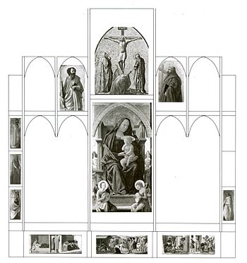 Reconstruction of Masaccio's Pisan altarpiece