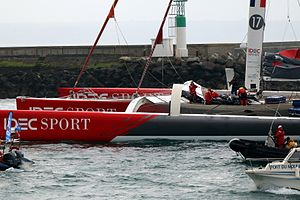 Around the world sailing record - Image: Record Jules Verne 26 01 2017 102