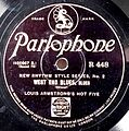 Record Label Parlophone, UK, West End Blues.jpg