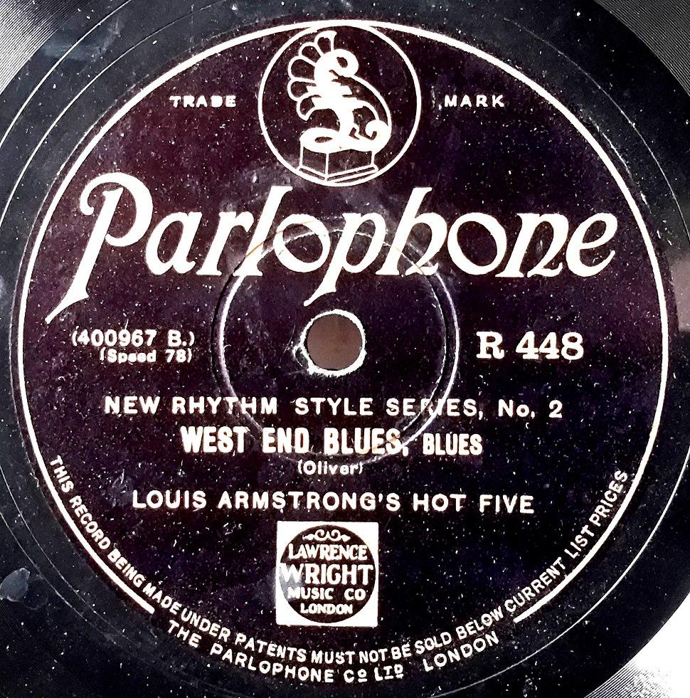 Record Label Parlophone, UK, West End Blues