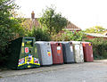 Recycling containers by Elvin's Garage - geograph.org.uk - 1541815.jpg