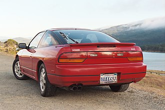Nissan 240SX - The facelift model Nissan 240SX SE Fastback (S13) in the USA.