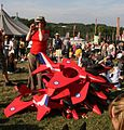 Red Arrow pile-up at Bestival 2007.jpg