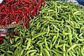 Red and green chili at Naga People's Mall in Naga City, Philippines.jpg