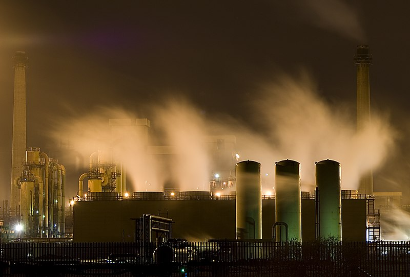 File:Redcar Steelworks at Night.jpg