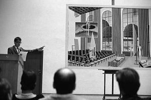 """Thomas Huber (artist) - artist lecture """"Rede in der Schule"""", Kunstakademie Düsseldorf 1984"""