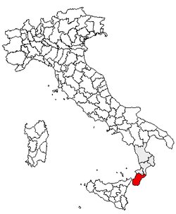 Location of Province of Reggio Calabria