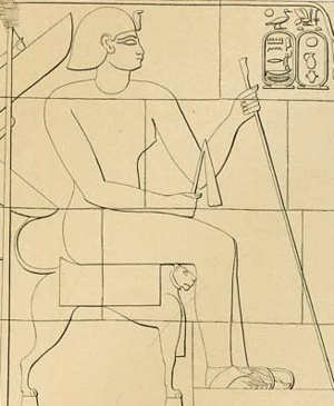Arakamani - Depiction of Arakamani, from Meroë pyramid Beg. S 6