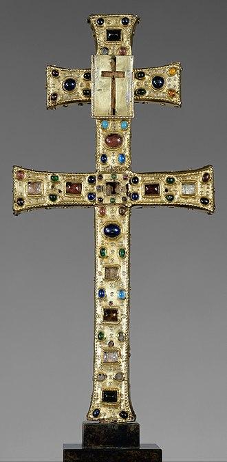 Reliquary - Reliquary Cross, French, c. 1180