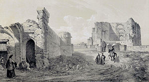 Arg of Tabriz - Image: Remains of the Palace Zobeideh , Tabriz by Eugène Flandin