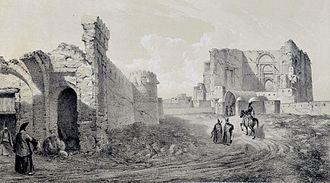 Arg of Tabriz - Image: Remains of the Palace Zobeideh , Tabriz by Eugène Flandin