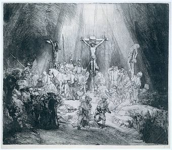 Tiga Salib, etsa karya Rembrandt