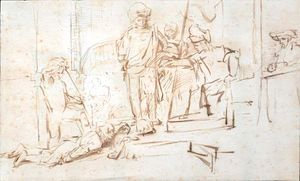 English: Rembrandt drawing known as The Judgment
