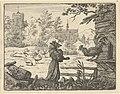 Renard, Disguised as a Monk, Gains the Confidence of the Rooster from Hendrick van Alcmar's Renard The Fox MET DP837691.jpg