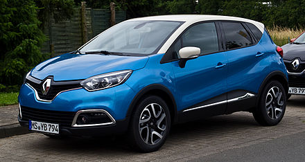 The Renault Captur is the best seller SUV in Europe since its first commercialization month in 2013. Renault Captur Luxe ENERGY TCe 90 Start & Stop eco² – Frontansicht, 10. Juli 2013, Münster (1).jpg