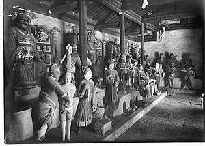 Arthur de Carle Sowerby - Representation of Buddhist hell in the Lung-wang Miao at Yanan, Shaanxi, photo by Arthur Sowerby, n.d.