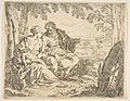 Rest on the flight into Egypt, Mary holding the infant Christ while St. Joseph points into the distance MET DP815033.jpg