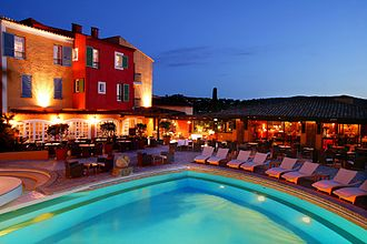 Saint-Tropez - The Hôtel Byblos is a Grand Hotel built in the mid-1960s