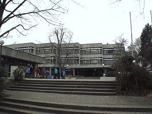 Pforzheim - Reuchlin-Gymnasium (Reuchlin-Highschool) today near the water tower