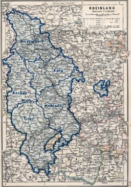dusseldorf karta Rhenprovinsen – Wikipedia dusseldorf karta