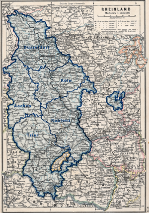 Rhineland - Regierungsbezirke of the Prussian Rhine Province, 1905 map