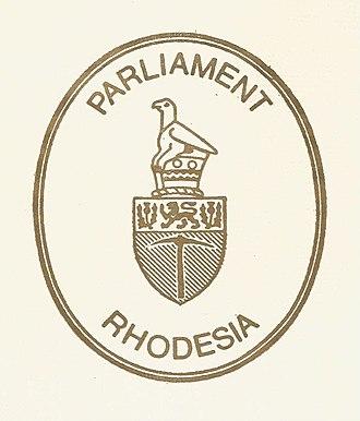 Zimbabwe Bird - Image: Rhodesia Parliament logo
