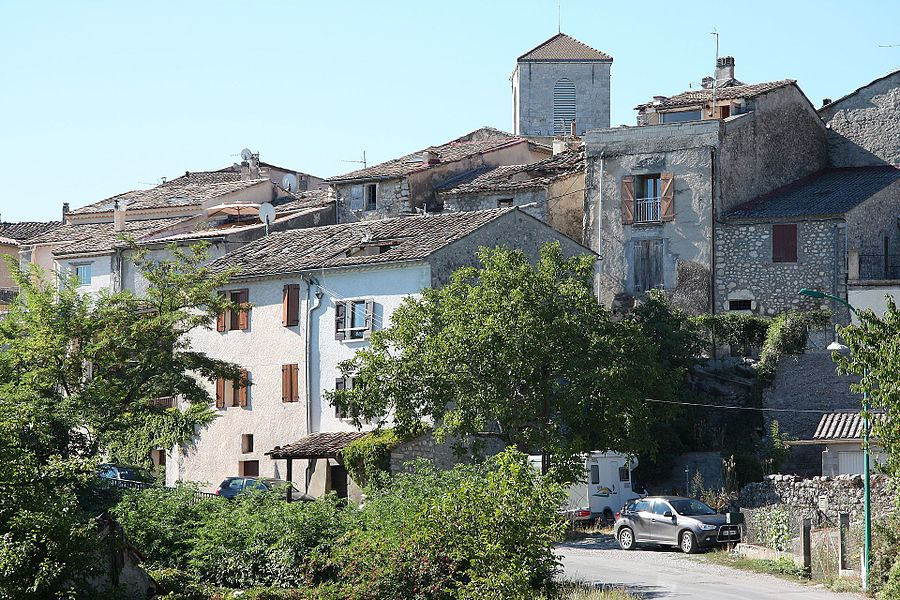 Old part of the commune of Ribiers, France.